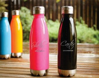Personalized Water Bottle, Custom Water Bottle, Monogrammed Water Bottle, Engraved Water Bottle, Ring Bearer Gift