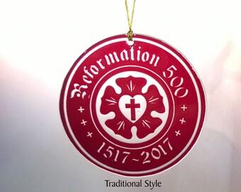 Sand Carved Reformation 500 Ornament