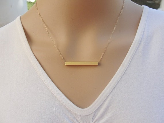 necklace personalized bar daily gold products colors plated steals