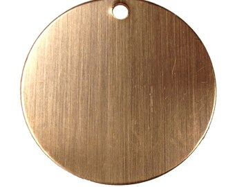 RMP Copper Round w/hole Stamping Blanks, 16 oz. , 25.4mm, 24 Ga. (10 pack)