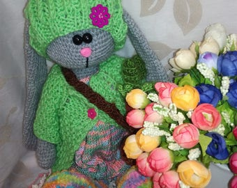 Crochet toy . Handmade bunny . Handmade toy .