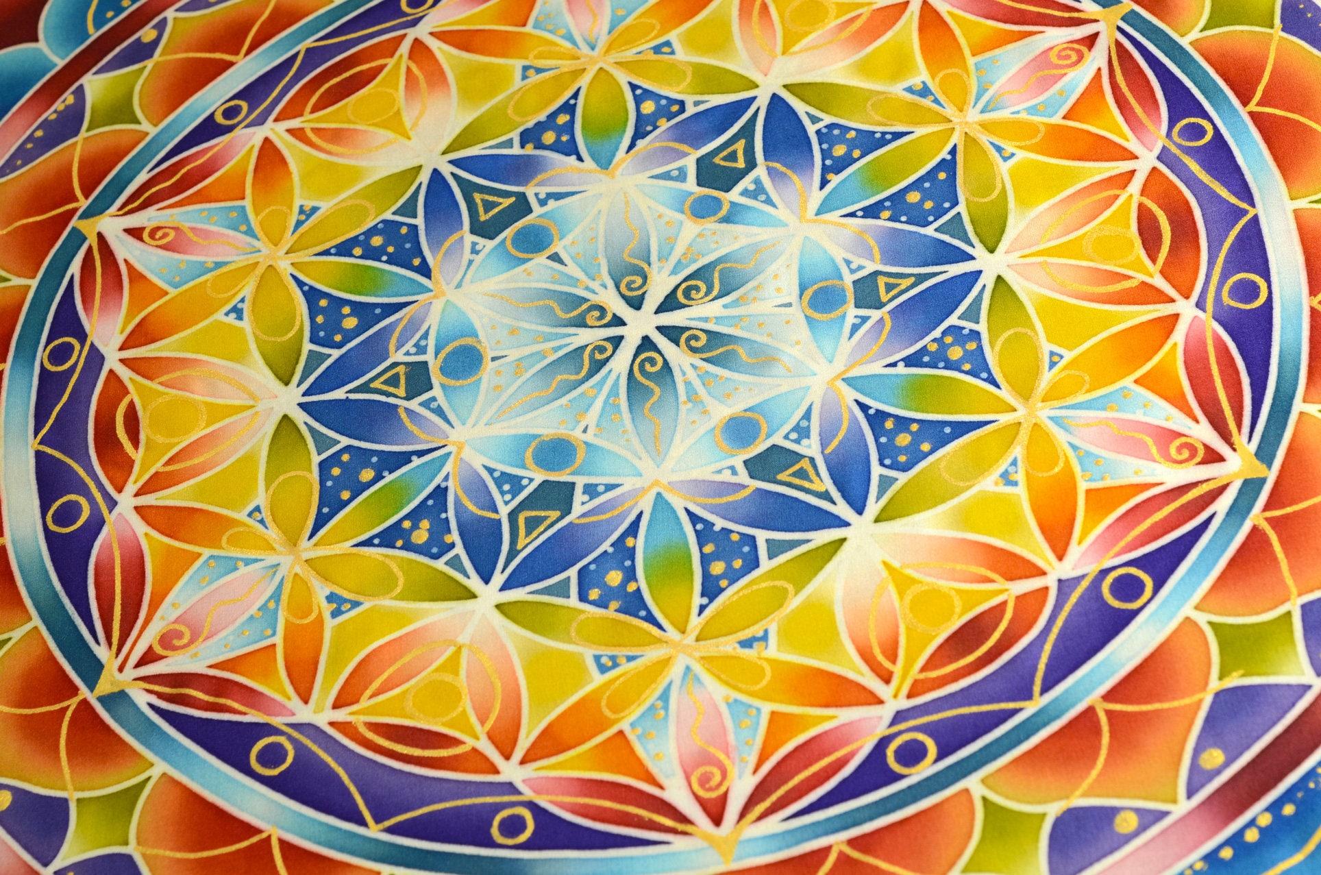 FUNKY WIND, Flower of Life wall decor, mandala wall art, sacred ...