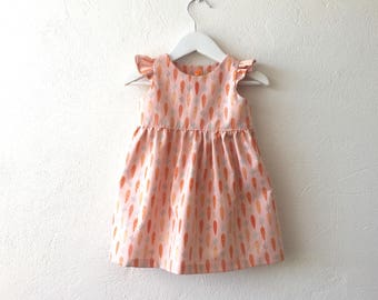 Baby girl dress toddler girl dress carrots dress Easter dress