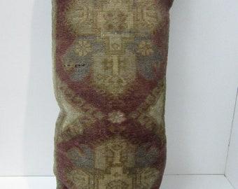 A stunning lumbar rug pillow cover,16''x33''-40x84cm,homedecor rug pillowcase,sofadecor pillowcover,rug cushion cover,cushion cover, H20
