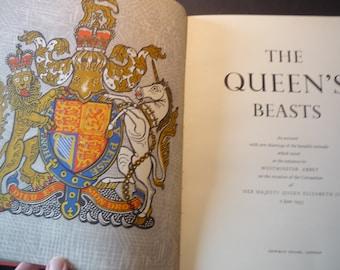 Vintage - The Coronation Beasts 1953 Coronation Commemorative Book  Guardian Beasts outside Westminster