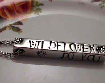 Alice in Wonderland 'Wildflower' Necklace-Alice in Wonderland Jewelry-Gifts for her-Sister Gift-Birthday Present-Birthday Gift-Teenager Gift