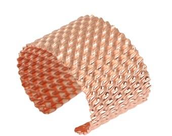 7 Year Anniversary Gift Corrugated Copper Cuff Bracelet 7th Anniversary Gift For Her Seven Year Anniversary Gift Copper Anniversary Gifts