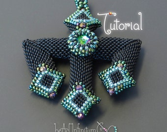 TUTORIAL Beaded Gothic Trident and Cross Pendants with Peyote Stitch
