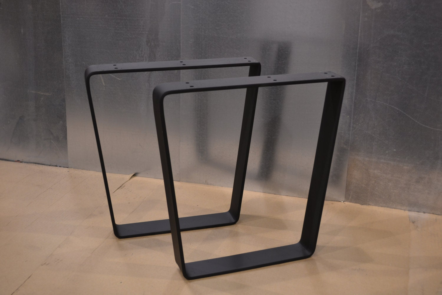 Tapered Trapezoid Style Metal Table Bench Desk Legs Any