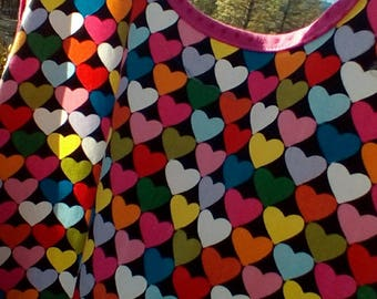 Woman's Full Vintage Style Heart Apron