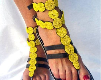 GLADIATOR SANDALS, Leather Sandals, Greek Sandals, African Sandals, Bohemian Sandals, Women Shoes, Women Sandals, Barefoot Sandals