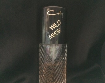 WILD MUSK by Coty VINTAGE Perfume 1980's Rare