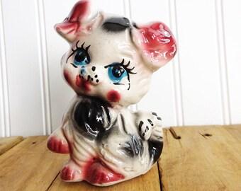 Vintage Kitschy Big Eyed Puppy Dog Figurine