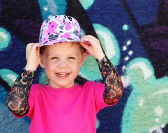 Bright Pink  Tattoo Sleeve Tiger Print T Shirt