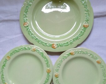 Vintage CarltonWare No. 26914 Bread & Butter Plate With 5 Side Plates.   Marigold Design.