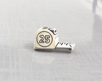 Mens Gift, Tape Measure Tie Pin, Tie Tack, Construction Lapel Pin, Handy Man Tie Tack, Unique Mens Gift, Construction Worker, Builders Pin