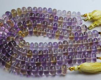 8 Inches Strand,NATURAL AMETRINE Smooth Rondelles,7.5-8mm