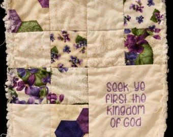 Shabby Chic Prayer Quilt-Hydrangea 3