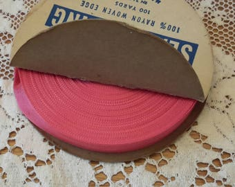 CORAL vintage seam binding vintage ribbon embellishment 100 yards spool 515 brand