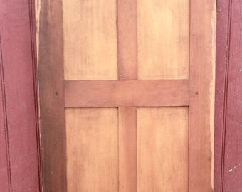 Antique Wood Door Arts And Crafts Movement, Shaker Style, Mortise And Tenon Cabinet  Door Architectural Salvage