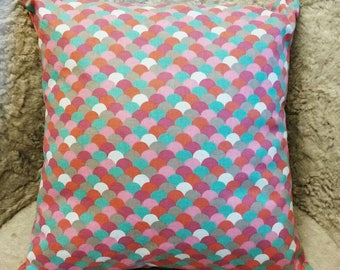 """Cushion """"Scales"""" - couch - Chair - interior - living room - cozy - craft - made in France"""