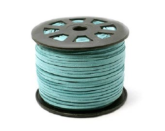 x 5 meters of 2.7 mm turquoise - blue suede cord faux suede CCP03