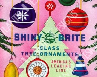 Shiny Brite 1 Ornaments 2 x 3 Fridge Magnet