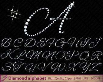Diamond alphabet clipart, glitter alphabet clip art, wedding invitation, glitter letters graphics, digital instant download, jpg png 300dpi