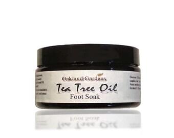 Tea Tree Oil Foot Soak - with Epsom Salt, Helps Treat Athlete Foot & Nail Fungus x 8 oz. Jar
