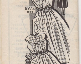 Sz 4-1950's Child's Dress Mail Order Pattern 8974C