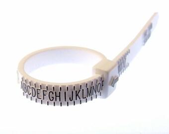 Ring Gauge UK Size - Plastic Ring Sizer - Multisizer - Reusable Ring Sizer - Ring Measure