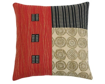 "Red Alchemy ""3 x 3"" Square Modern Decorative Pillow 17 x 17 inches"