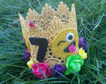 Emoji Birthday Crown, Gold Crown