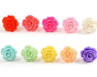 1/2 7/16 00g 0g 2g 4g 6g 8g 10g 12g 1 PAIR 14mm Rose Plugs Wedding Plugs Bridal Jewelry Bridesmaids Formal Wear Special Occasion