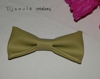 Hair bow * olive green *-large format