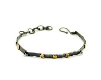 Silver Bracelet, Bangle Bracelet, Gold Bracelet, Stacking Bracelet, Layering Bracelet, Link Bracelet, Sterling Silver, Minimalist Bracelet