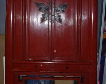 ANCIENT CHINESE FURNITURE late nineteenth century restored in the twentieth century, antiques, gift, decoration, wardrobe, lacquered