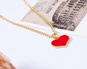 Designer red Heart Necklace Motif Heart Necklace Pendant