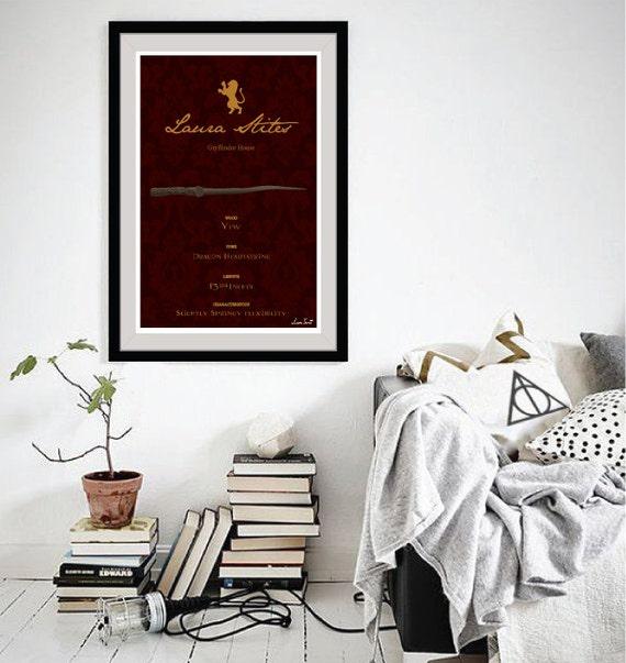 Benutzerdefinierte Pottermore Zauberstab Art Print