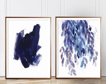 Blue Abstract set,  Set of 2 Wall Art, Set of 2 Blue Prints, Watercolor, Blue Abstract, set of 2, Blue Print, Art, Modern art, Wall art