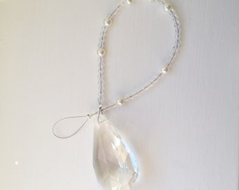 Crystal suncatcher with pearls