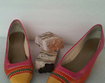 Bright! 80s Auditions pumps / colorful / pleather / vegan / slip on / womens