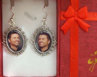 George Michael earrings. Gift Boxed