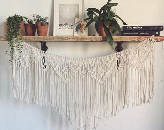 Macrame bunting / wall hanging garland, wedding and party decoration (made to order)