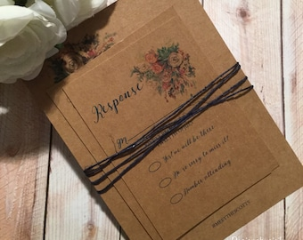 Simply Classic Kraft Wedding invitation Set