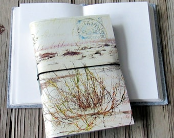 from afar travel journal- inspired by nature and vintaage french letters, inspire journal,  gifts under 30