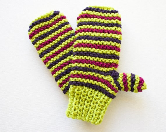Zombie Green Pixie Mittens - Children's Green Mittens for Halloween, Fall, Thanksgiving and Winter - Lime Green Mittens for Trick or Treat!