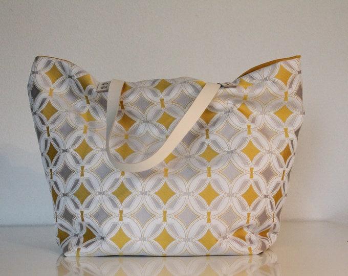 Yellow geometric SAUSALITO bag
