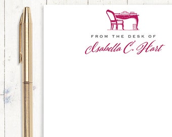 personalized notePAD- FROM the DESK OF - choose color and font - stationery - stationary