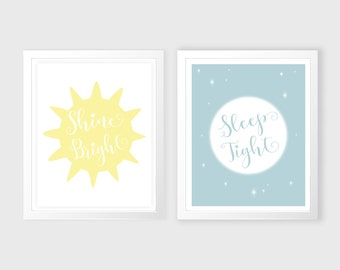 Sun and Moon nursery wall art - Sun and Moon wall art - kids wall art - Nursery Decor - Sun and Moon - nursery wall art - wall decor